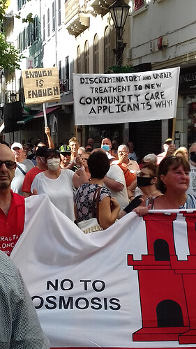 Enough is Enough Gibraltar Demonstration 2020 March