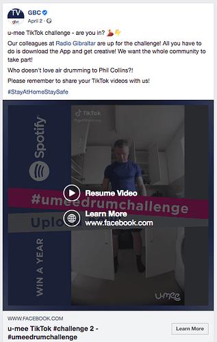 Umee TikTok Challenge on FB