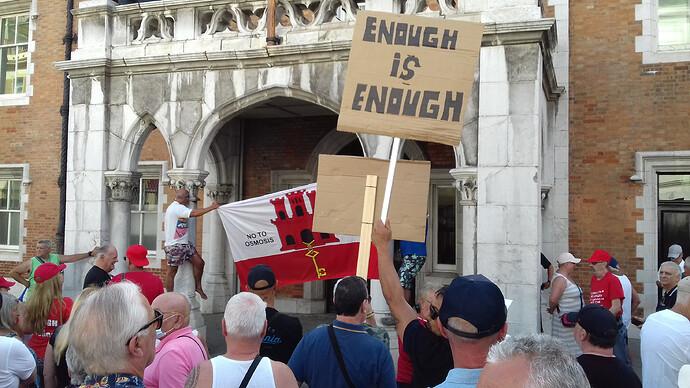 Enough is Enough Gibraltar Demonstration 2020 No to Osmosis