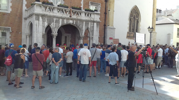 Enough is Enough Gibraltar Demonstration 2020 Convent