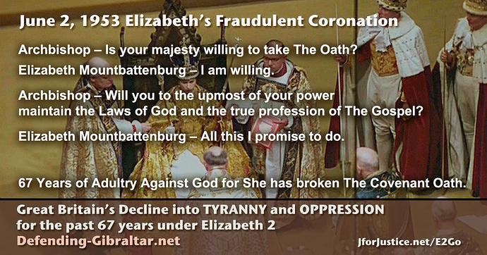 Elizabeth Broke The Covenant Oath