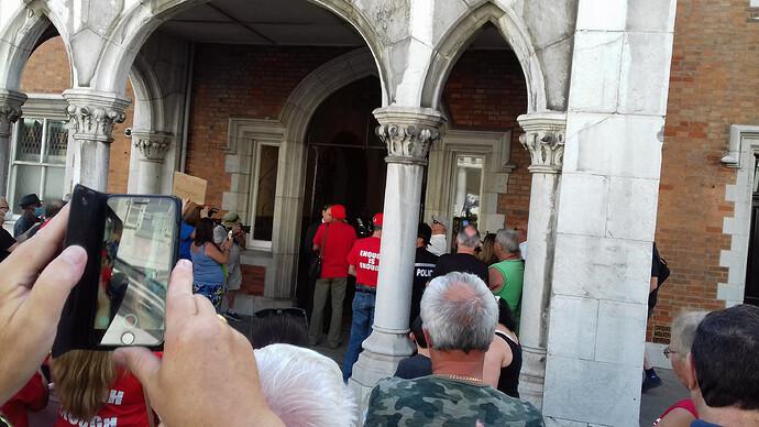 Enough is Enough Gibraltar Demonstration 2020 Governor gets doc