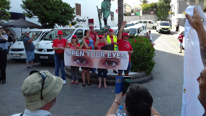 Enough is Enough Gibraltar Demonstration 2020 Open Your Eyes