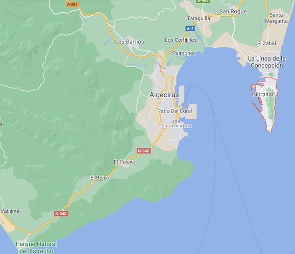 Los Barrios from Gibraltar