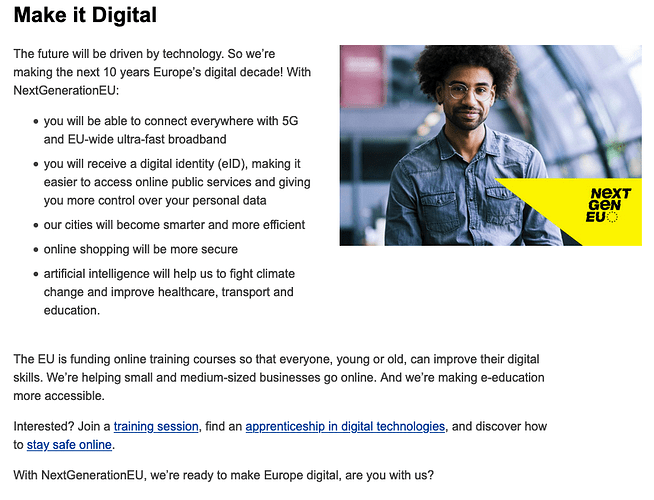Make it digital EU Next Generation