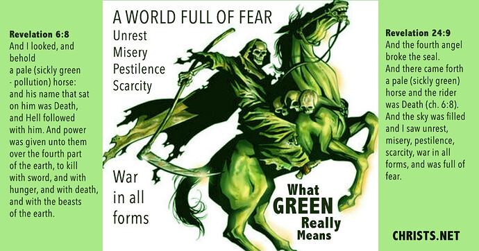 The Pale GREEN Horseman