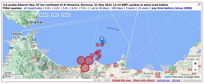 earthquake 21 May Alboran Sea