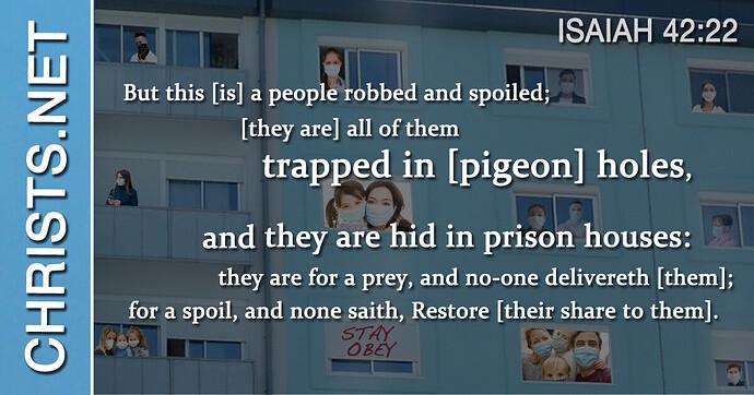 Pigeon Hole House – Isaiah 42-22