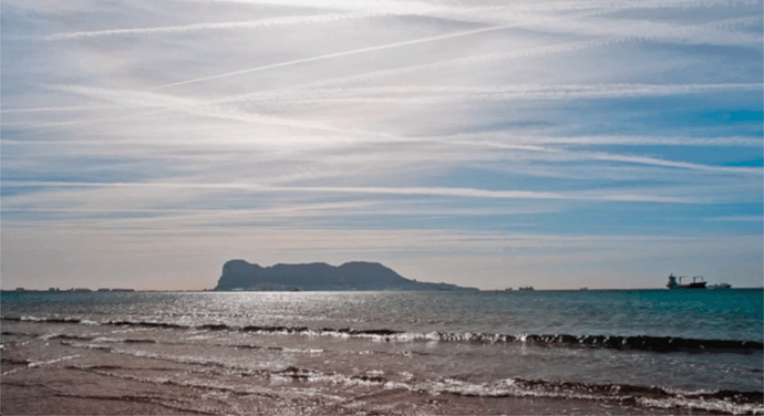 What are they spraying over Gibraltar