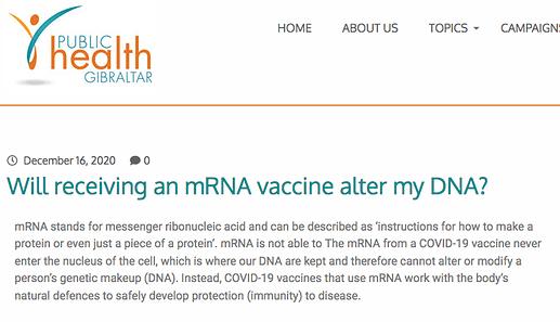 Public Health Gibraltar on DNA
