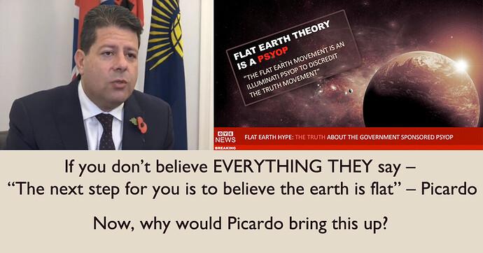 Picardo and Flat Earth Jab