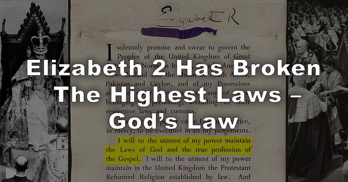 Elizabeth 2 Has Broken The Highest Laws
