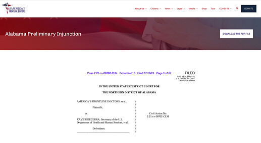 Alabama Preliminary Injunction AFD