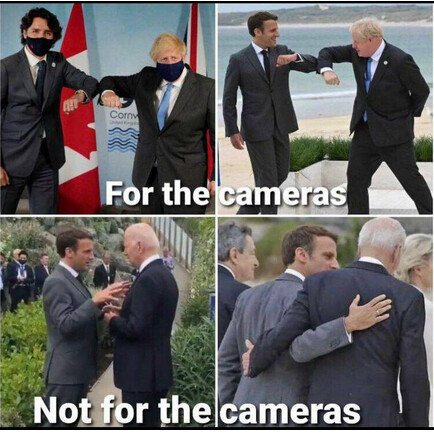 appearances at the G7 meeting