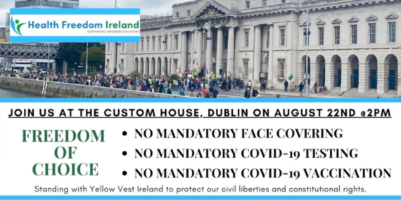 Health Freedom Ireland Protest 22 Aug
