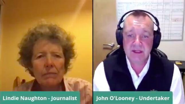 lindie Naughton with John O'Looney